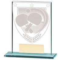 Millennium Table Tennis Jade Glass Trophy Award 110mm : New 2020