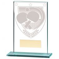Millennium Table Tennis Jade Glass Trophy Award 125mm : New 2020