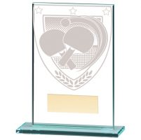 Millennium Table Tennis Jade Glass Trophy Award 125mm : New 2020