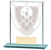 Millennium Ten Pin Bowling Jade Trophy Award 110mm : New 2020
