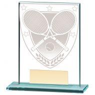 Millennium Tennis Jade Glass Trophy Award 110mm : New 2020