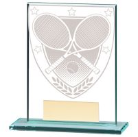 Millennium Tennis Jade Glass Trophy Award 110mm : New 2020