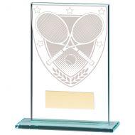 Millennium Tennis Jade Glass Trophy Award 125mm : New 2020