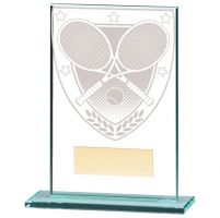 Millennium Tennis Jade Glass Trophy Award 125mm : New 2020