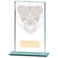 Millennium Tennis Jade Glass Trophy Award 140mm : New 2020