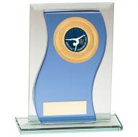 Azzuri Wave Multisport Mirror Glass Trophy Award Blue and Silver 145mm : New 2020