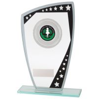 Cosmic Multisport Glass Trophy Award Black and Silver 170mm : New 2020
