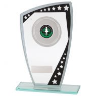 Cosmic Multisport Glass Trophy Award Black and Silver 210mm : New 2020