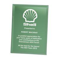 Emerald Green Mirrored Plaque 200mm