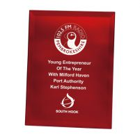 Ruby Red Mirrored Plaque 150mm