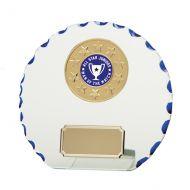 Jade Motion Glass Plaque Trophy Award 130mm
