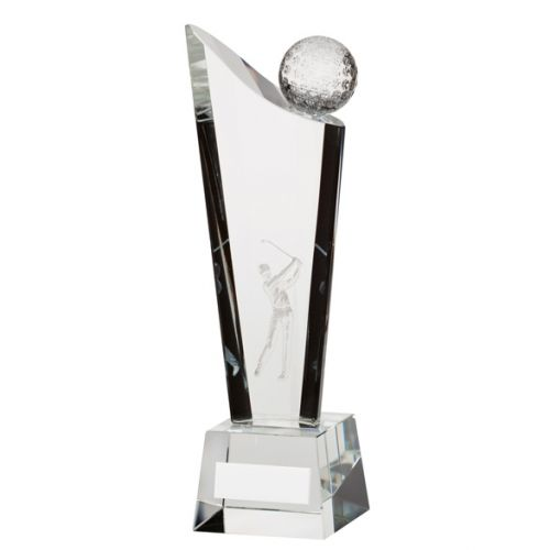 Capture Crystal Golf Trophy Award 205mm