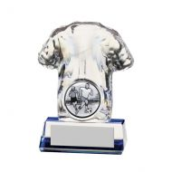 Icon Football Trophy Award Shirt Crystal 90mm
