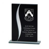 Spirit Fury Black Mirror Glass Trophy Award 145mm