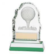 Challenger Shot Crystal Trophy Award 130mm