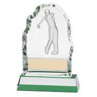 Challenger Drive Crystal Trophy Award 130mm