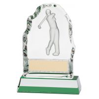 Challenger Drive Crystal Trophy Award 130mm
