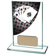 Colour Curve Poker Jade Glass Trophy Award 125mm : New 2020