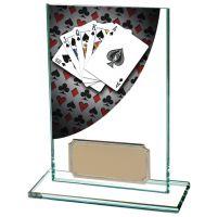 Colour Curve Poker Jade Glass Trophy Award 125mm : New 2020