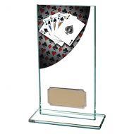 Colour Curve Poker Jade Glass Trophy Award 160mm : New 2019