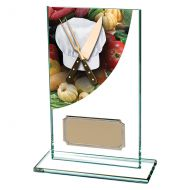 Cooking Colour-Curve Jade Crystal Trophy Award 140mm