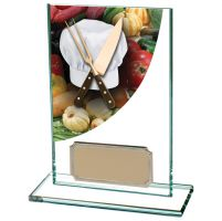Colour Curve Cooking Jade Glass Trophy Award 125mm : New 2020