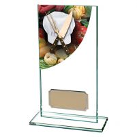 Cooking Colour-Curve Jade Crystal Trophy Award 160mm