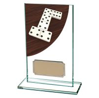 Dominoes Colour-Curve Jade Crystal Trophy Award 140mm