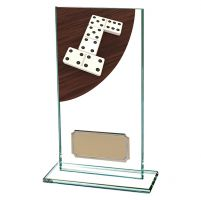 Dominoes Colour-Curve Jade Crystal Trophy Award 160mm