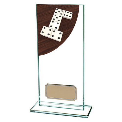 Dominoes Colour-Curve Jade Crystal Trophy Award 180mm