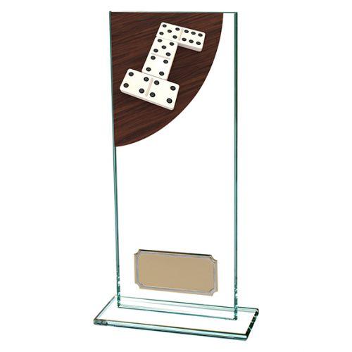 Dominoes Colour-Curve Jade Crystal Trophy Award 200mm