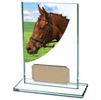 Equestrian Colour-Curve Jade Glass 125mm : New 2020