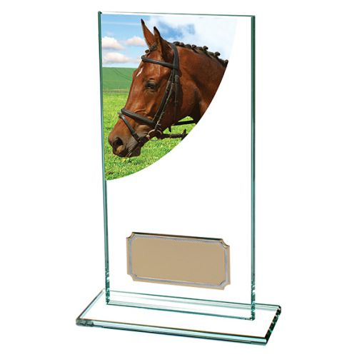 Equestrian Colour-Curve Jade Glass 160mm : New 2019