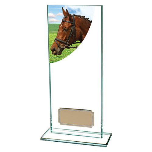 Equestrian Colour-Curve Jade Glass 200mm : New 2019
