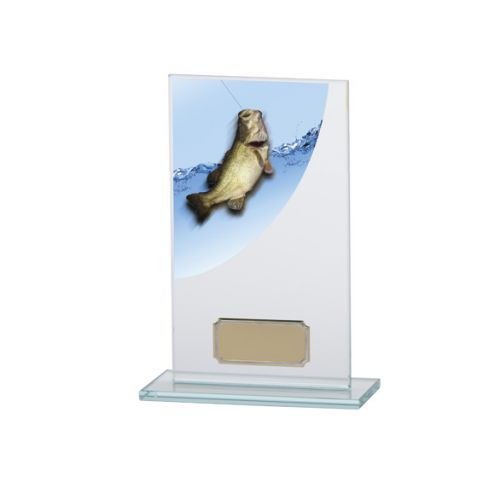 Angling - Fishing Colour-Curve Jade Crystal Trophy Award 160mm