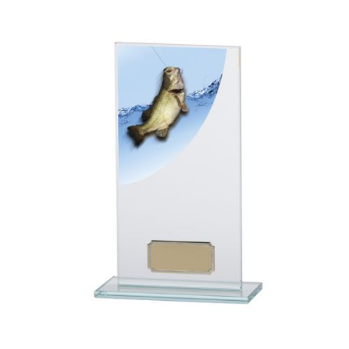Angling - Fishing Colour-Curve Jade Crystal Trophy Award 180mm