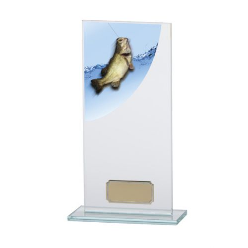 Angling - Fishing Colour-Curve Jade Crystal Trophy Award 200mm