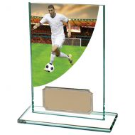 Football Player ColourCurve Jade Crystal 125mm : New 2020