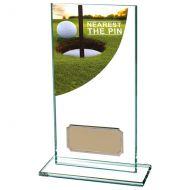 Nearest The Pin Golf Award Colour Curve Jade Crystal 160mm : New 2019