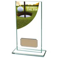 Nearest The Pin Golf Award Colour Curve Jade Crystal 160mm : New 2019