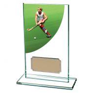 Colour Curve Hockey Jade Glass Trophy Award 140mm : New 2020