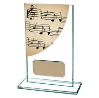 Music Colour-Curve Jade Crystal Trophy Award 140mm