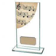 Music Colour-Curve Jade Crystal Trophy Award 160mm