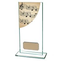 Music Colour-Curve Jade Crystal Trophy Award 180mm
