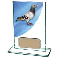 Colour Curve Pigeon Jade Glass Trophy Award 125mm : New 2020