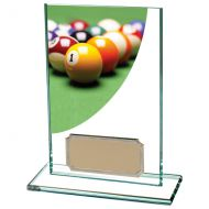 Colour Curve Pool Jade Glass Trophy Award 125mm : New 2020
