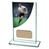 Rugby Colour-Curve Jade Crystal Trophy Award 140mm