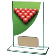 Colour Curve Snooker Jade Glass Trophy Award 125mm : New 2020