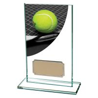 Tennis Colour-Curve Jade Crystal Trophy Award 140mm