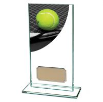 Tennis Colour-Curve Jade Crystal Trophy Award 160mm